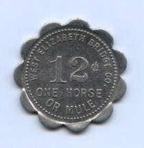 "Front of token used for ""One Horse or Mule"""