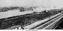 Coal Fleet on Ohio River    dated 1908