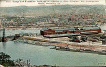 Pittsburgh Exposition Hall postcard dated 1908